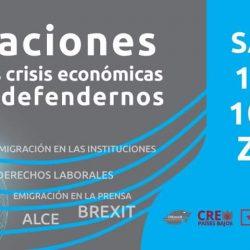 Migraciones durante las crisis económicas y como defendernos: charla coloquio