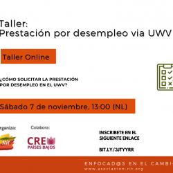 Prestación por desempleo vía el UWV: taller